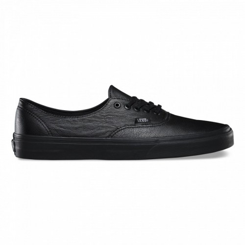 Nouvelle Vans Authentic Decon Cuir Homme Noir Noir